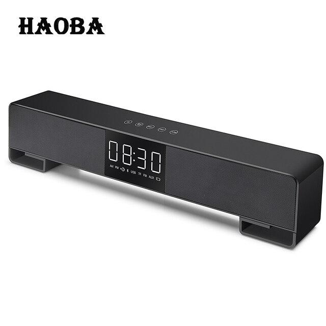 Haoba A3 Tv Soundbar Home Theater Music Center Sound Bar Fm Radio Column Bluetooth Led