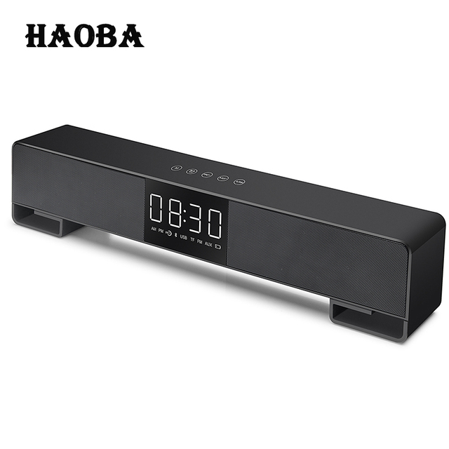 Haoba A3 Tv Soundbar Home Theater Music Center Sound Bar Fm Radio Column Led Bluetooth Speaker