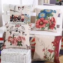 Decorative Jacquard Vintage font b Floral b font Bird Botanical Fish Sailling Boat Plant Gift Sofa