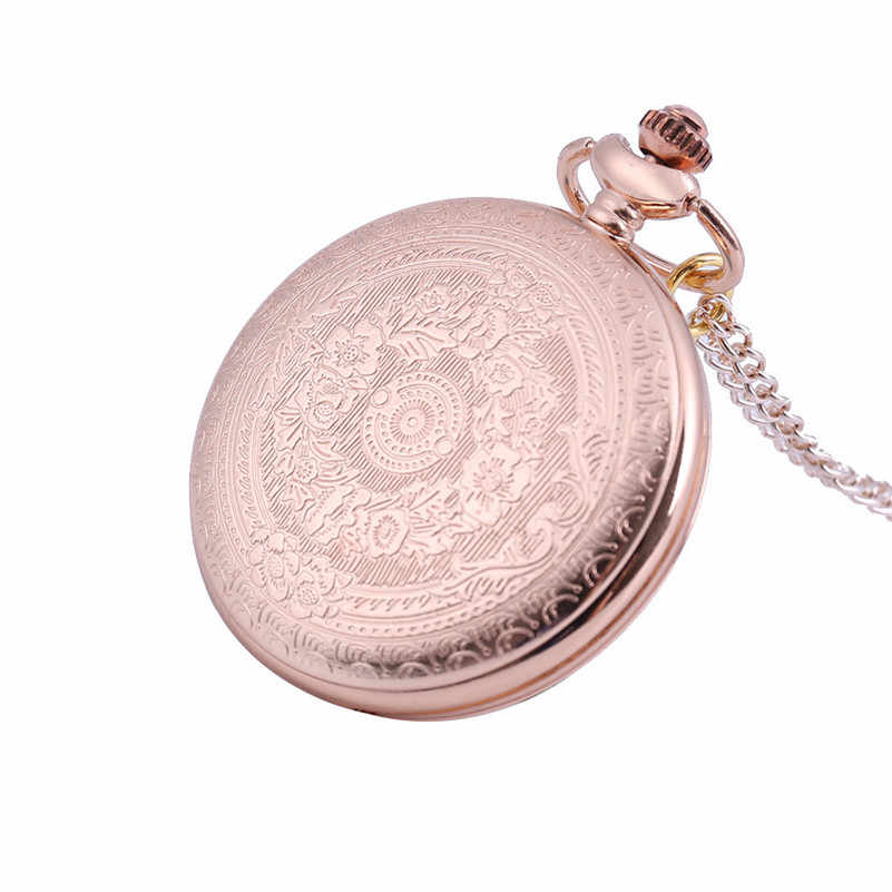 Fashion Women Men Pocket Watches Rose Gold Quartz Picture Pendant Watch Nurses Watches Couple Necklace Clock Gifts reloj mujer/D