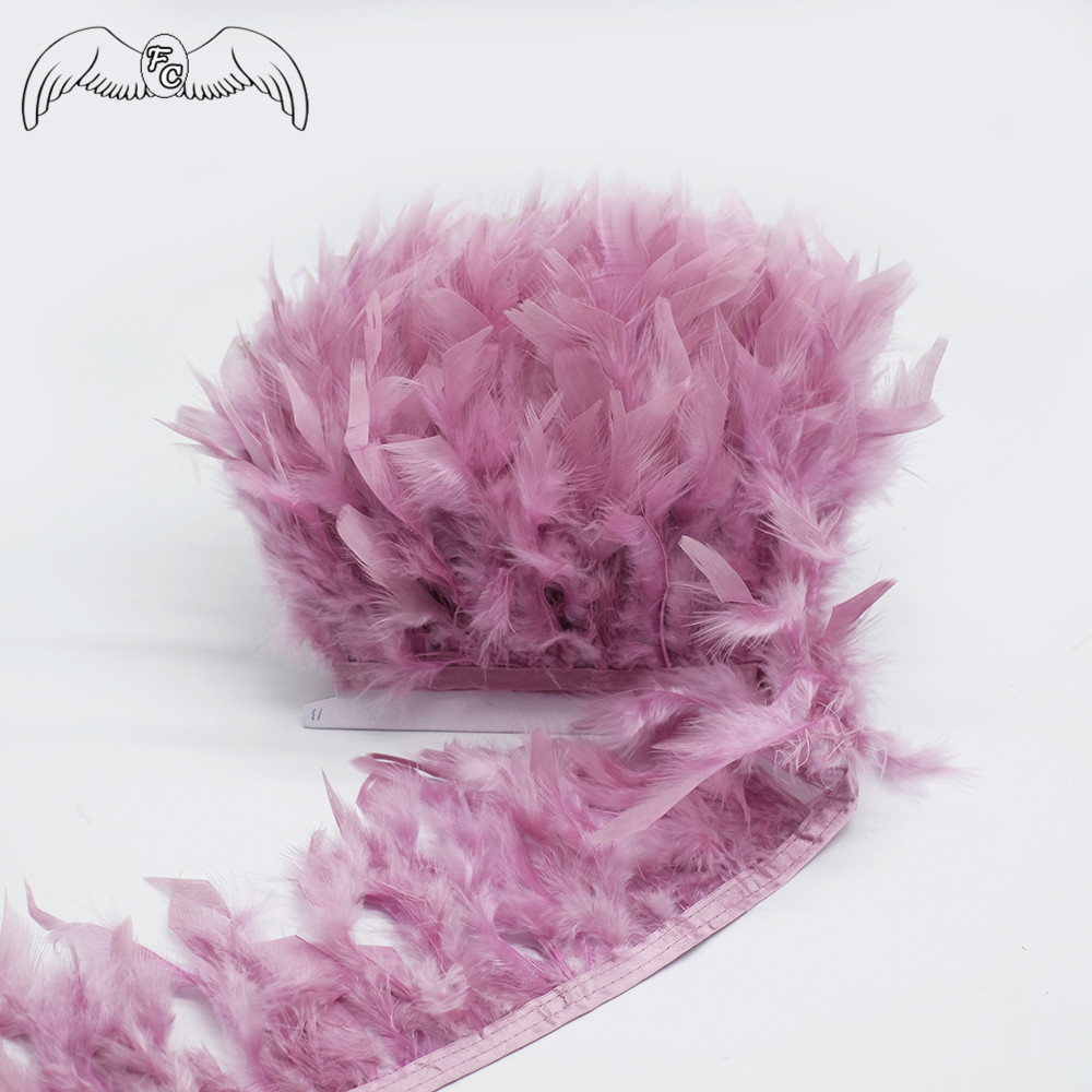 NEW Turkey Marabou 5-6cm feather Trim Fringing Price per 30cm DIY Craft Clothing