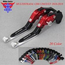 CNC Extendable Foldable Motorcycle brake Clutch Levers For Ducati MULTISTRADA 1200/1260/S/GT 2010-2018 2017 2016 2015 2014 2013 цена в Москве и Питере