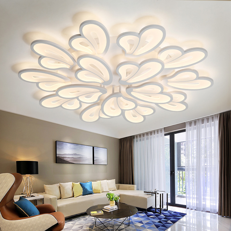 IRALAN Modern Led Chandelier With Remote Control Acrylic Lights For Living Room Bedroom Home Lighting Ceiling Fixtures