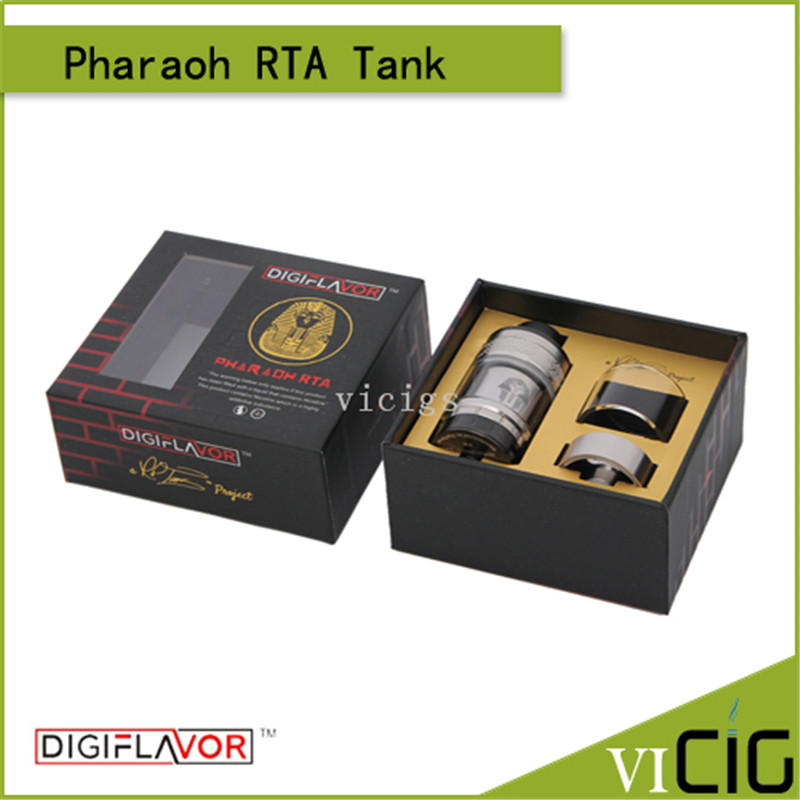 100% Original Digiflavor Pharaoh RTA Tank 4.6ml Pharaoh RTA Airflow Control System Vape Atomizer With 510 Thread