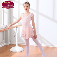 Ballet Pink Stage Performance Competition Dance Skirt Kids Training Leotards Children Dancing Practice Dresses for Girls
