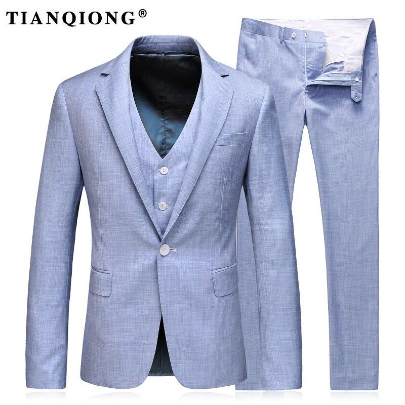 Здесь продается  TIAN QIONG Latest Coat Pant Design 100% Polyester Light Blue Herringbone Men Wedding Suits Tailor Blazer Groom Suits for Men  Одежда и аксессуары