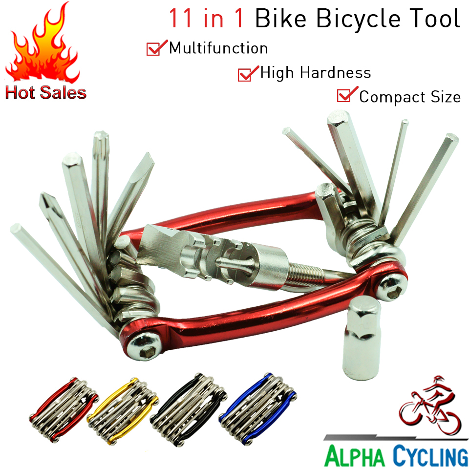 Bike Repair Tool Kit By Cooma: Compact, Portable All-in-One Multi Tool. Allen Keys, Screwdriver, Chain Tool + 11 In 1 Functions