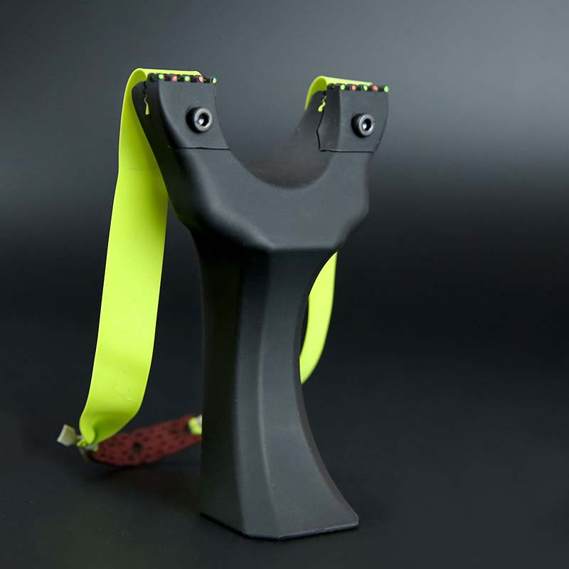 Spring Fast Pressure Slingshot In Hardened Resin With 3 Rubber Bands Fit New Beginner Outdoor Shoting Hunting Activity