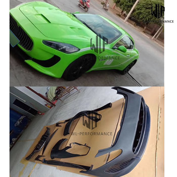 GT DMC style PP unpainted Car body kit Front bumper Rear bumper diffuser Side skirts Side fenders For Maserati GT Car styling