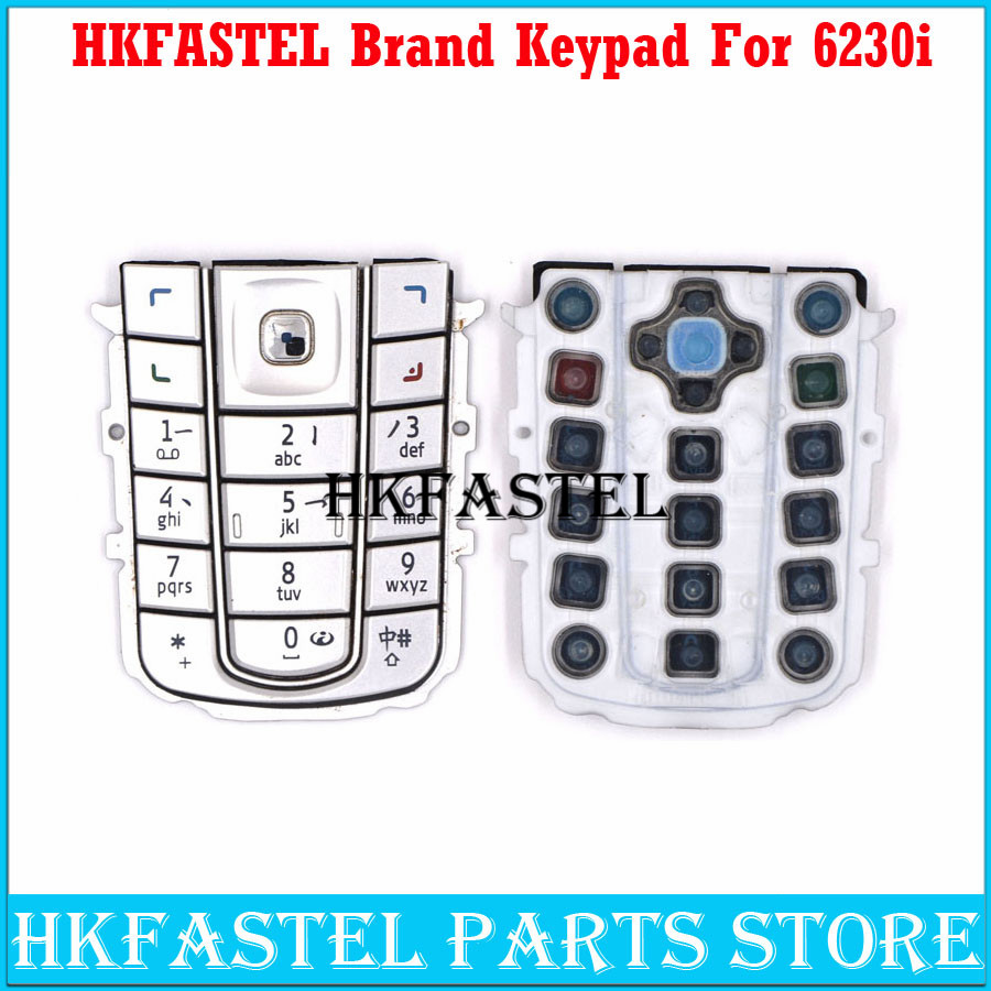 HKFASTEL New Cell phone Keyboard For <font><b>Nokia</b></font> <font><b>6230i</b></font> Mobile Phone Housing Keypad Cover <font><b>Case</b></font> image