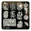New Pattern Nail Art Image Stamp Stamping Plates Manicure Template For Fashion Women Girl Stemping 6617
