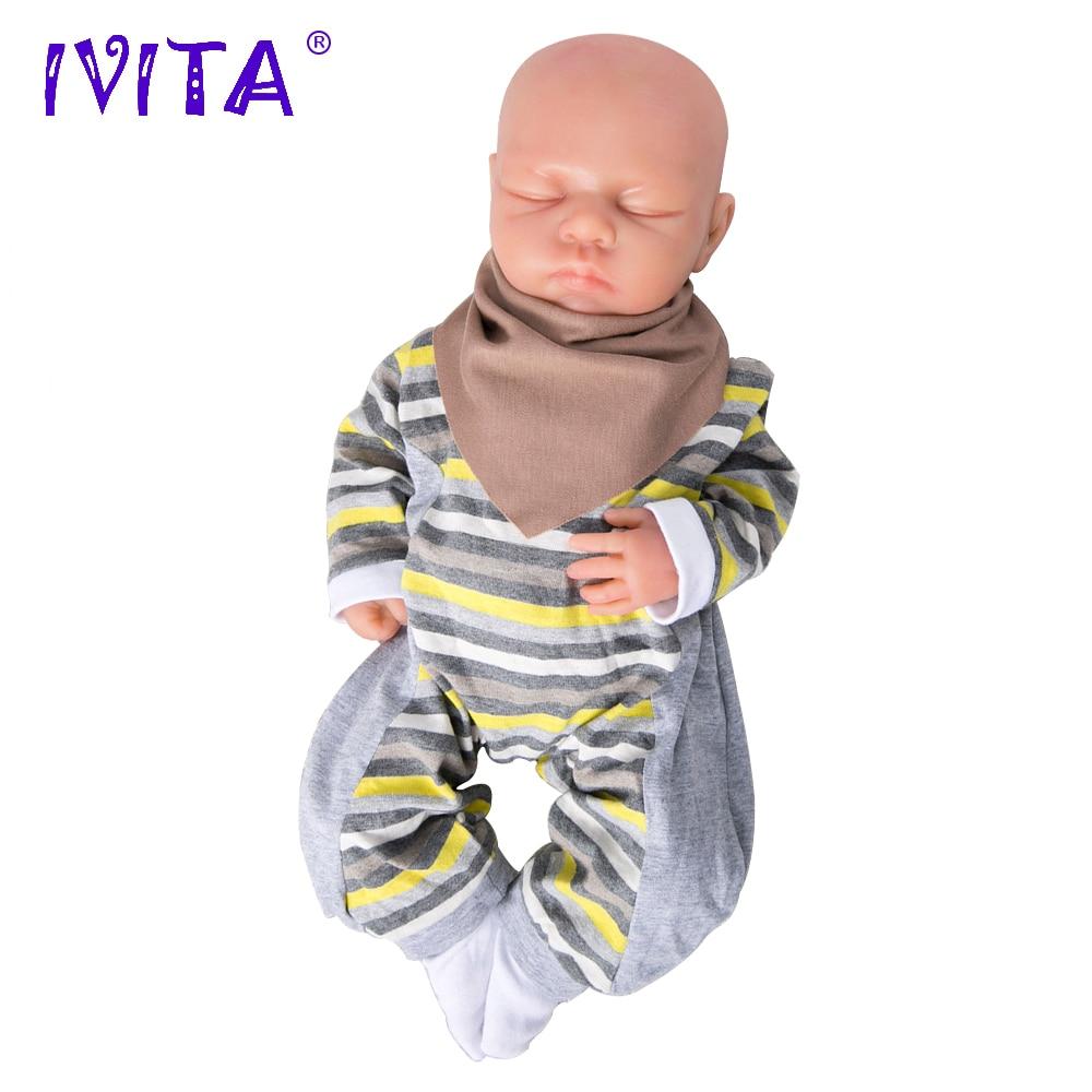 IVITA WG1507 46cm 3.2kg Djevojka očiju zatvorene visoke kvalitete - Lutke i pribor - Foto 4