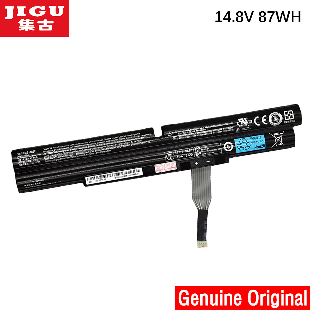 JIGU AS11B5E Original Laptop Battery For Acer Aspire Ethos 5951 8950 8951 5943G 5951G 8943G 8951G 14.8V 87WH pitatel bt 086 аккумулятор для ноутбуков acer aspire 5943g 5950g 8943g 8950g
