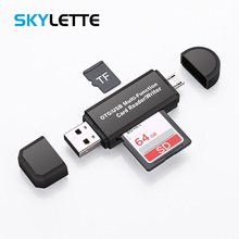2 In 1 USB OTG Card Reader ความเร็วสูง USB2.0 Universal TF/SD การ์ด OTG สำหรับโทรศัพท์ Android คอมพิวเตอร์ Usb