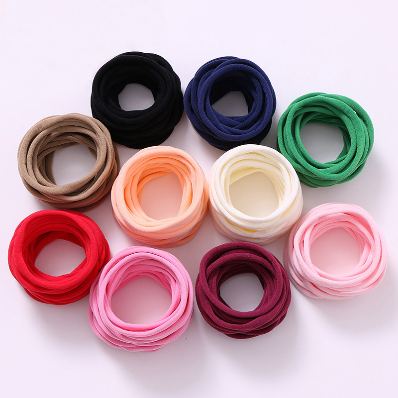 500 pcs lot Soft Stretchy Nylon Elastic Headbands 9mm width Strong Nylon bands wholesale DIY hair