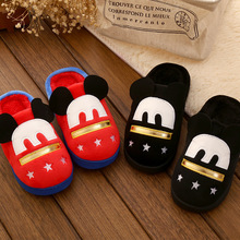 Winter Children's shoes girls boys Cotton-padded shoes Lovely butterfly Cartoon Half pack Cotton slippers