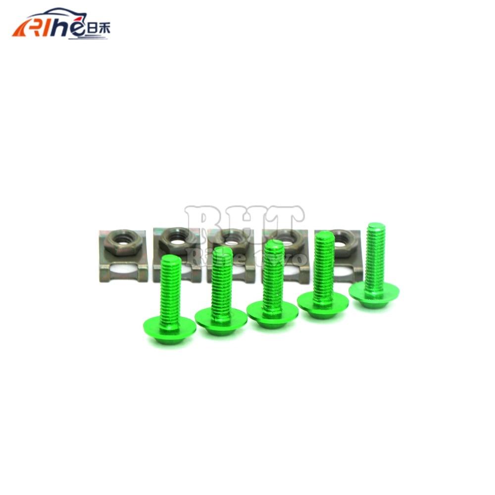5 piezas 6 mm motocicleta accessrioes carenados tornillos para el - Accesorios y repuestos para motocicletas - foto 4