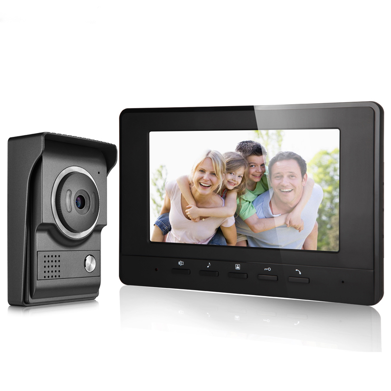 JEX Wired Video doorbell Speaker Intercom System 7 inch LCD Screen Video door phone intercom Doorbell COMS Camera In stock