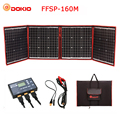 Dokio 160 Вт 18В черные солнечные панели отправлений доступно только на территории КНР Складная + 12/24 V регулятор напряжения портативный 160 ватт с...