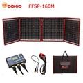 Dokio 160 W 18 V Zwarte Zonnepanelen alleen China Opvouwbare + 12/24 V Volt Controller draagbare 160 watt Panelen zonnepaneel batterij
