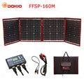 Dokio 160 W 18 V negro paneles solares sólo China plegable + 12 V/24 V voltios controlador portátil 160 paneles de Watt de la carga de la batería del panel Solar