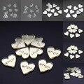 30 pcs Cartão de Nome Gravado Personalizado Espelho/Claros MR & MRS Sobrenome Do Amor Do Coração da Tabela Do Casamento Decoração Favores Personalizados