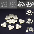30 pcs Personalized Engraved  Name Card Mirror / Clear MR & MRS Surname Love Heart Wedding Table Decoration Favors Customized