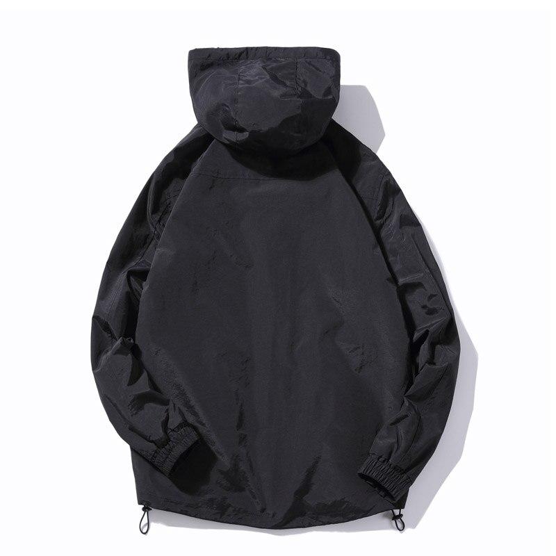 Зимняя новинка, простой дизайн, Толстая теплая куртка с капюшоном для мужчин, черный, серый цвета, молодежная мода, свободные ветрозащитные ... - 3