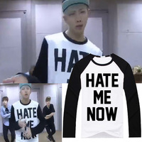 Kpop Home BTS Bangtan Boys RAP MONSTER Same Harajuku Style Hate Me Now Pullovers Man And