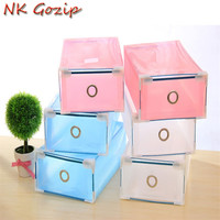 Hot Sale 5PCS Set Drawer Container Stackable Shoes Boxes Plastic Foldable Shoes Storage Case Home Waterproof