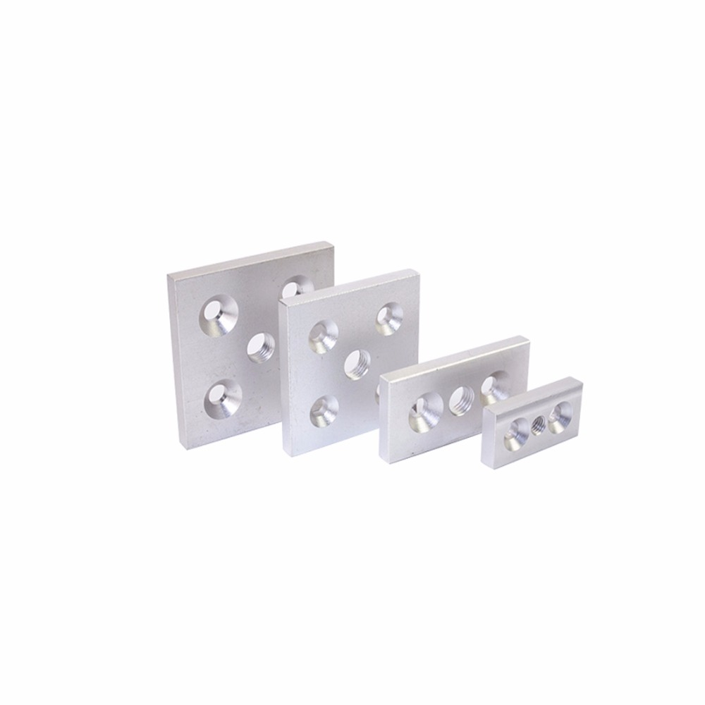 Hot sale 3060 4080 Aluminum Face Plate Connection Plate Casters Adjust the feet to support the bottom plate for EU standard DIY стоимость