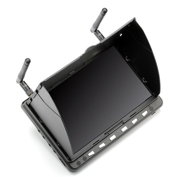 все цены на Skyzone HD02 40CH 5.8G 7 Inch 1024x600 HD FPV Monitor HDMI With/Without DVR Build in Battery