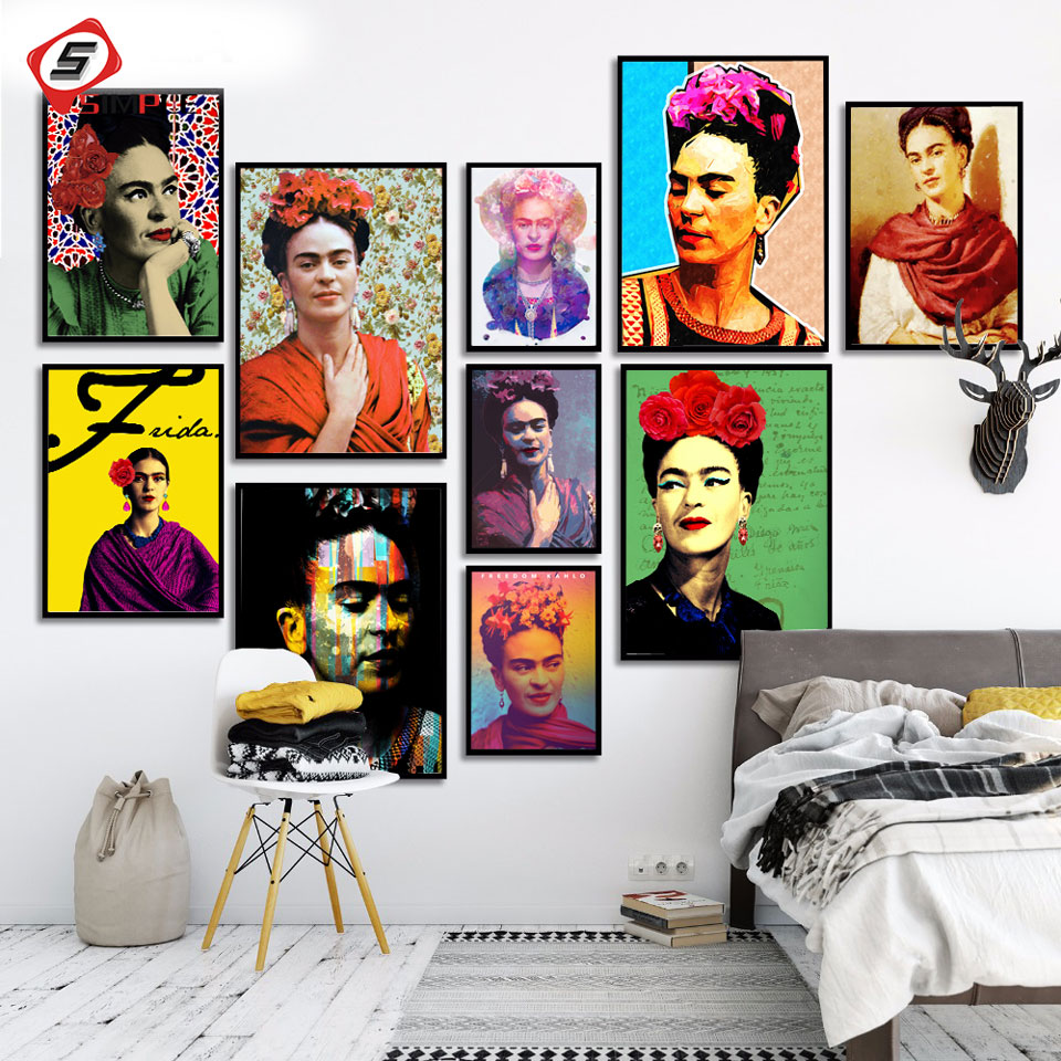 frida kahlo selbst portr t leinwand kunstdruck malerei. Black Bedroom Furniture Sets. Home Design Ideas