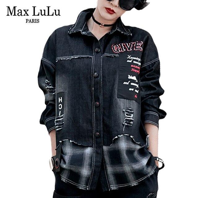 8ef05cbf74 Max LuLu DE LUJO marca europea de niñas de moda Punk Denim Camisas 3d  cuadros para