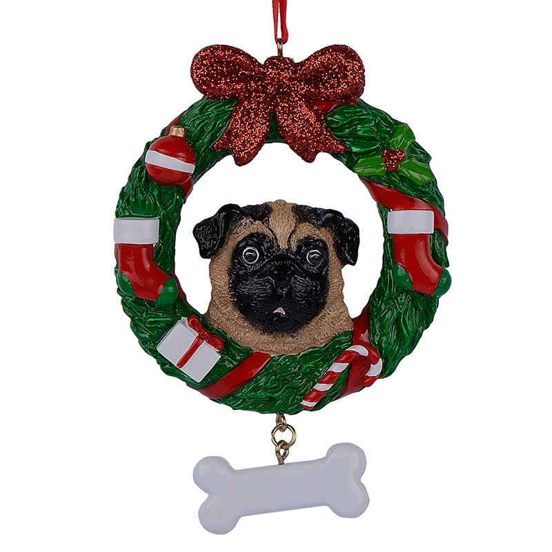 Maxora Yellow Pug Dog Resin Crafts Shiny Personalized ...