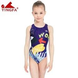 Yingfa 2018 one piece femmes maillots de bain enfants natation course costume compétition maillots de bain filles professionnel nager solide enfant