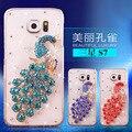 Manderm s7 s7edge rhinestone hard case capa para samsung galaxy s7 s7 edge telefone case protetora casos de bling do diamante pavão