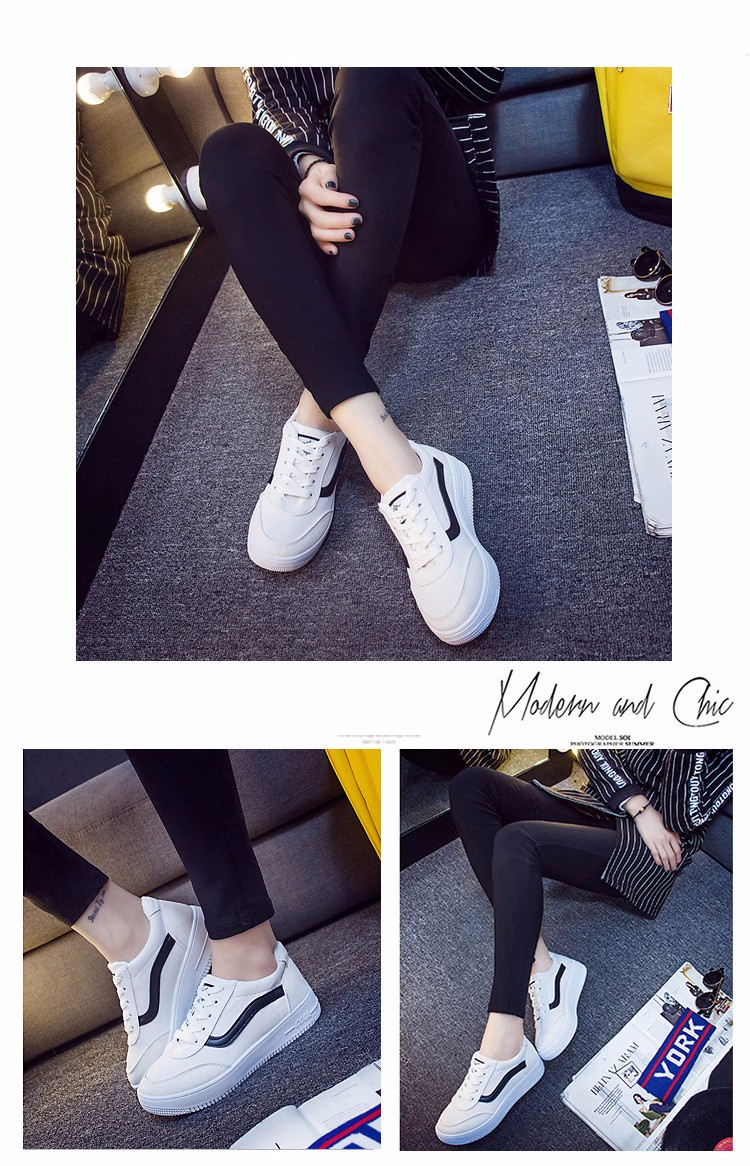 Free Shipping 2016 New Fashion Women Casual Shoes Comfortable Lace-up Woman Flats Classic Round Toe Sports Shoes ST427 (3)
