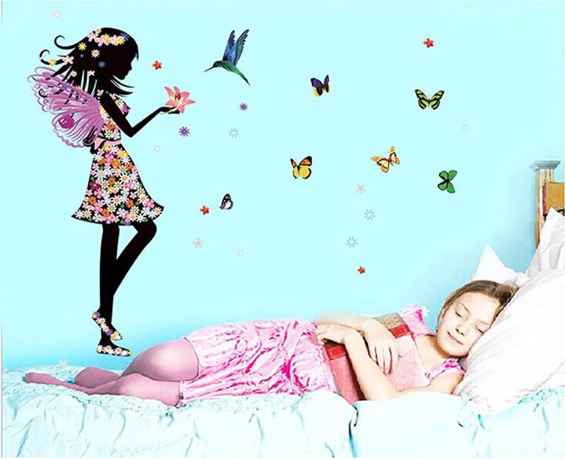 HTB1lz1iKpXXXXXkapXXq6xXFXXXO Beautiful Butterfly Elf Arts Wall Sticker For Kids Rooms