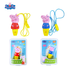 цена на Genuine Peppa Pig Toy Whistle Post Flute George Pig Peluche Peppa  Action Figures Anime figuras peppa Pig Toys for Children Gift