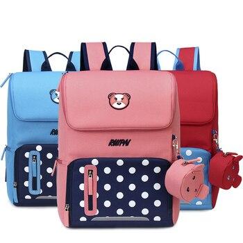 New Children School Bag Girls Boys Backpack Large Capacity Cartoon Schoolbag Safety reflective strip design Mochila Infantil фото