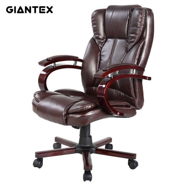 Giantex pu sill n ergon mico silla de oficina de cuero for Muebles de oficina sillas giratorias