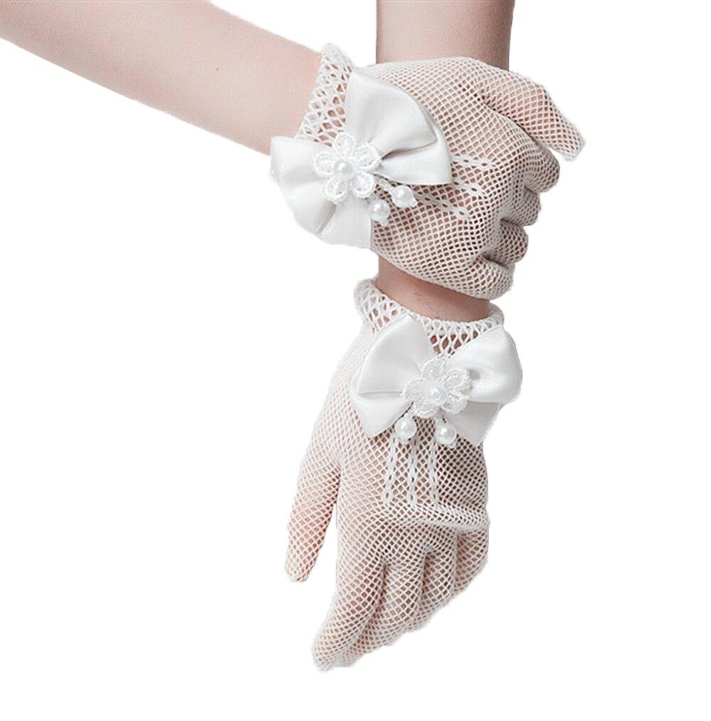 Weiß Hochzeit Handschuhe Blumenmädchen Der Spitze Bowknot Netto Voile Hochzeit Handschuhe Mesh Stil Prinzessin Handschuh 3sz60072 Neue Sorten Werden Nacheinander Vorgestellt Armstulpen Bekleidung Zubehör