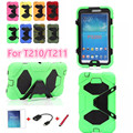 New Shockproof Heavy Duty Rubber Hard Case Cover for samsung galaxy tab 3 7.0 P3200 case sm-t211 T210+screen protector+pen+otg