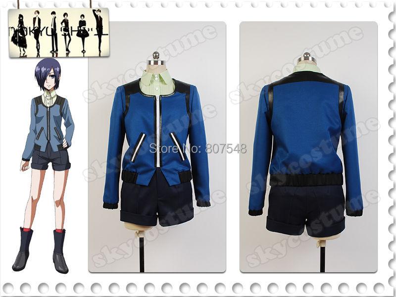 Tokyo Ghoul Cosplay Costume Suit Touka Kirishima Uniform Casual Jacket Outfit Free Shipping