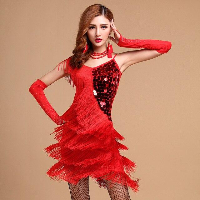 Latin Skirt Woman Skirts Dance Tassel For Women Ballroom Lady