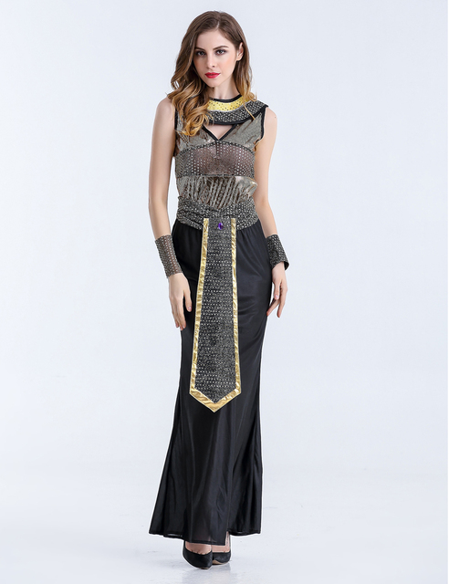MOONIGHT Halloween Costumes Ancient Egyptian Cleopatra Queen Costume Cosplay Clothing For Women Fancy Dress Costume Outfits 5