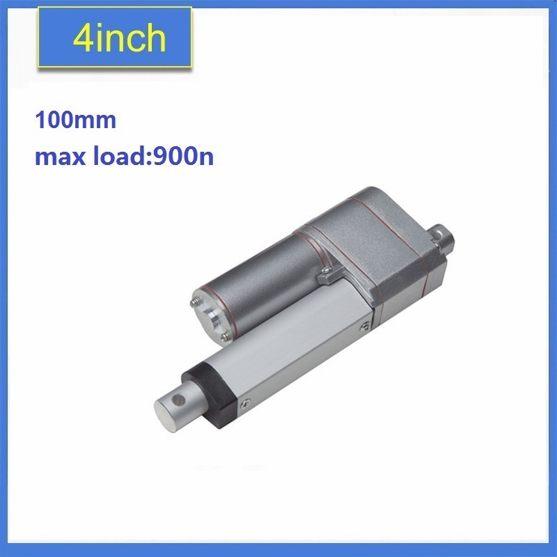 12v DC 4 inch/100mm travel linear actuator, 900N / 198LBS load with a linear position feedback actuator and the potentiomete