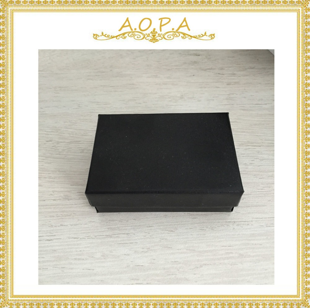 #32 Black Swirl Cotton Filled Paper Box 100pcs With High Quality For Jewelry Packaging Bracelet Earring Box