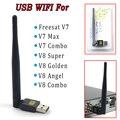 Mini portátil USB antena Wi-fi Dongle para TV Por Satélite Receptores Freesat v7 V8 V8 Dourado Super Externo USB 2.0 Adaptador Wi-fi LAN